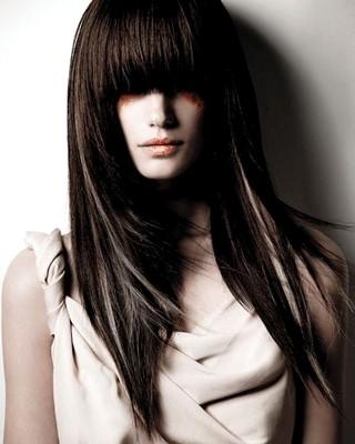 Style rambut perempuan berponi panjang