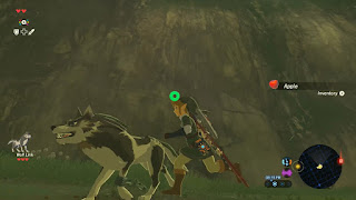 link running with wolf link legend of zelda breath of the wild screenshot