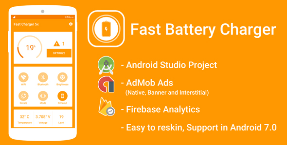 Fast Battery Charger Android Source Code, Android source codes
