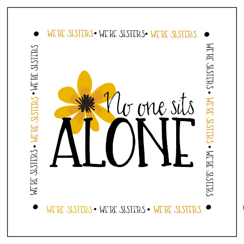 NO one sits alone- Free Printable- Relief society- We\u0027re sisters