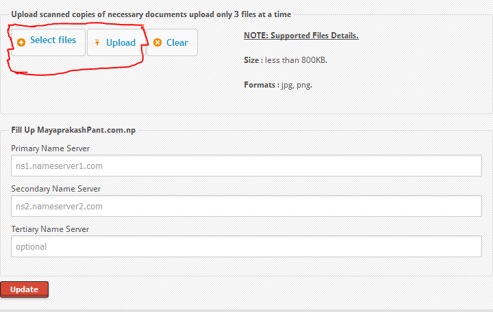 Uploading images to .np domain
