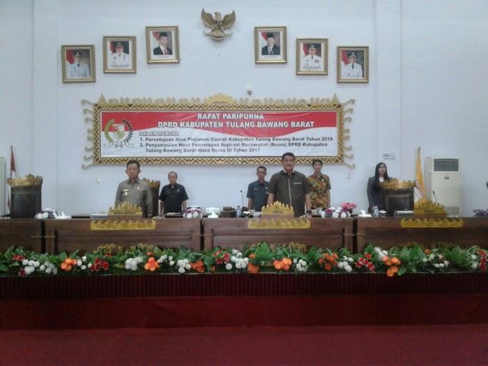 Rapat Paripurna DPRD Tulang Bawang  Barat Dalam Rangka Persetujuan Pinjaman Dengan PT SMI
