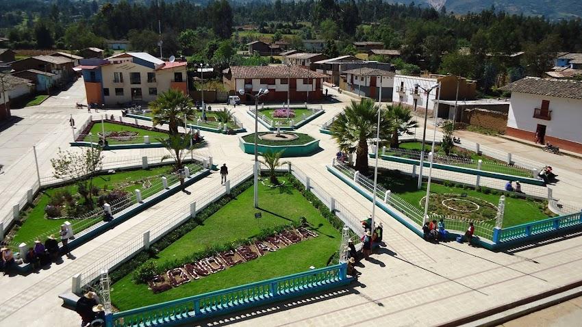 Plaza de armas de Cauday - distrito de Condebamba