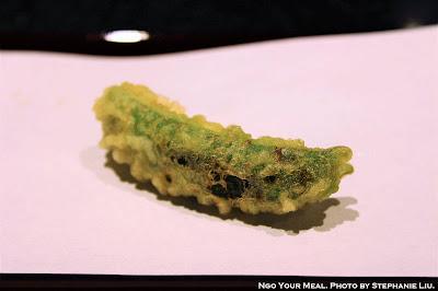 Snap Peas Croquette at Tempura Endo Yasaka