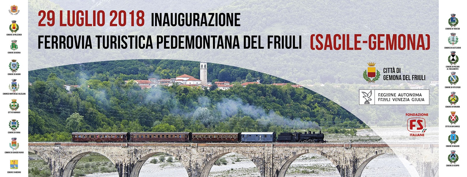 Domenica si inaugura la Ferrovia Turistica Sacile-Gemona  il sogno del  territorio è diventato realtà beeb592a7c