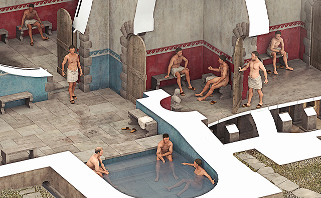 Roman Bath House reconstruction