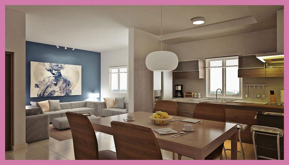 Como decorar mi casa  Blog de Decoracion Decoracin de sala y comedor de departamentos en Cntrika Torres