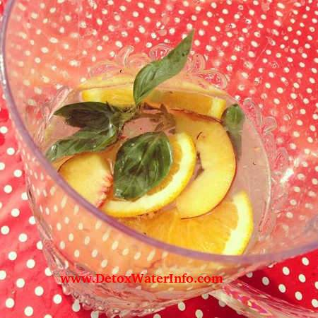Mint and peach water