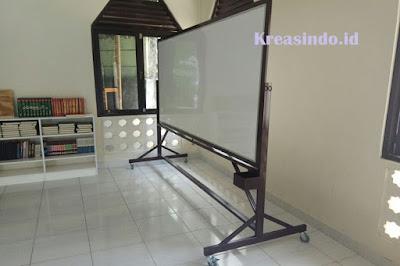 Harga Pembuatan Papan Board atau Papan Tulis Rangka Besi, Stainless atau Aluminium