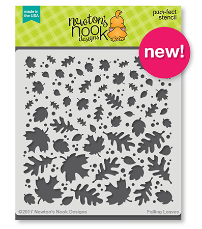 newton's Nook Designs Falling Leaves Stencil - Naki Rager