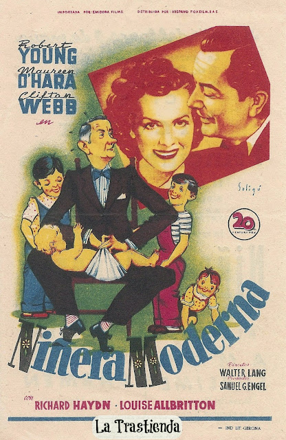 Niñera Moderna - Folleto de cine - Robert Young - Clifton Webb - Maureen O'Hara