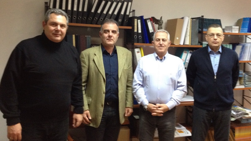 Η πολιτική και στρατιωτική ηγεσία των Ενόπλων Δυνάμεων στη Σαμοθράκη