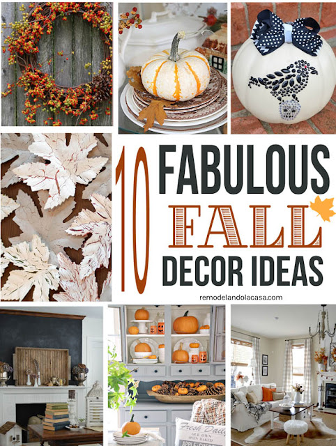 Bittersweet wreath, fall hutch, crackled leaves, chalkboard fireplace, jack-o-lanterns on hutch,