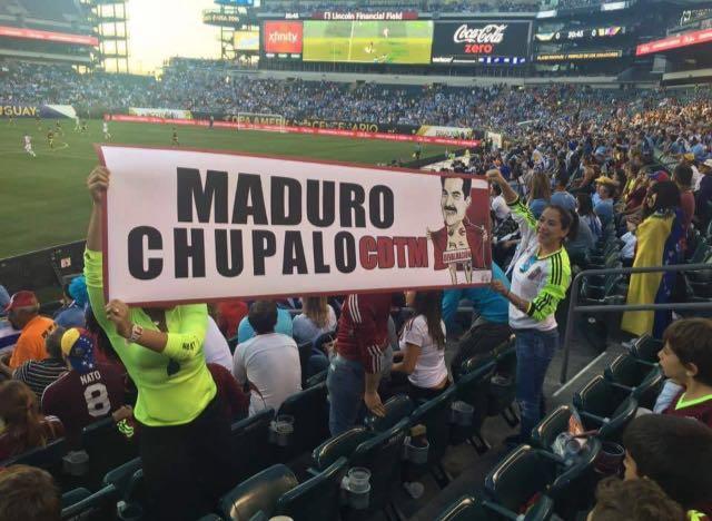 """El """"Maduro, chúpalo"""" llegó a la Copa América"""