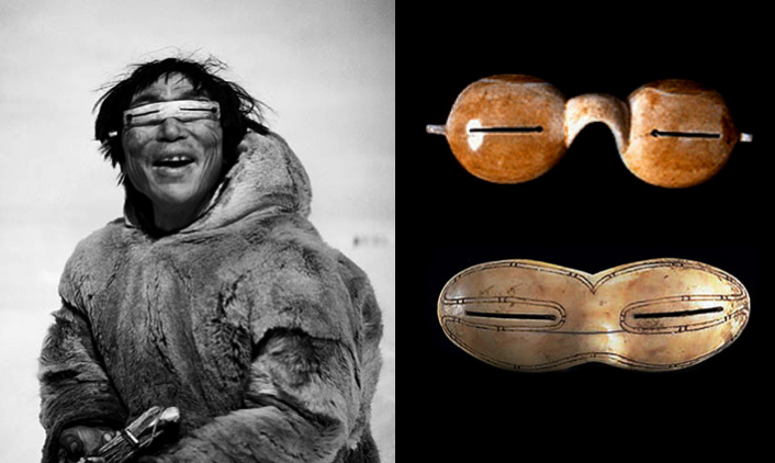 0942b55d212e While even in prehistoric time Inuit peoples wore flattened walrus ivory  glasses to block harmful reflected rays of the sun, the earliest historical  ...