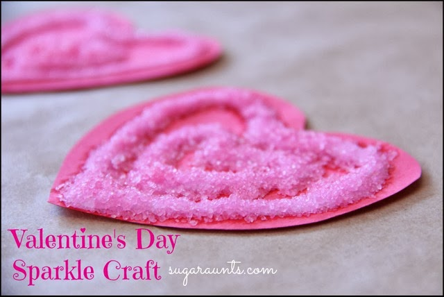 picture of sparkle heart craft for kids to make