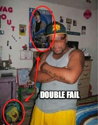 foto fallida y divertida de gangster o pandillero