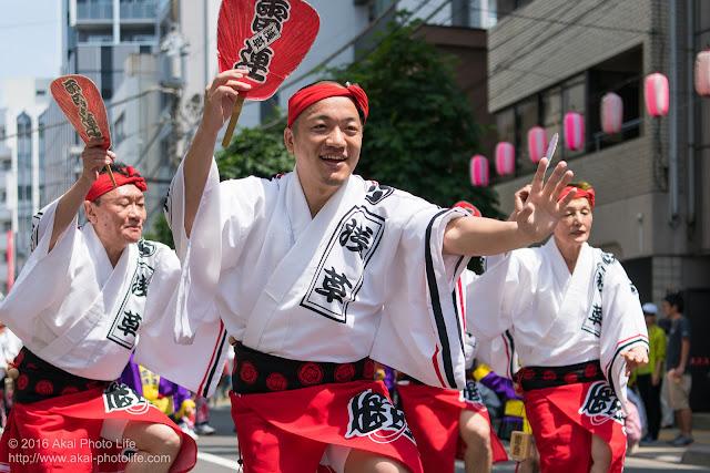 マロニエ祭りで浅草雷連の男踊りの踊り手の一人を撮影した写真 その5