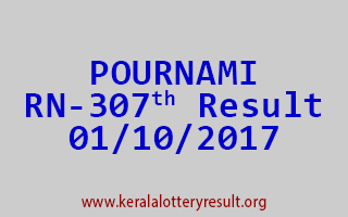 POURNAMI Lottery RN 307 Results 1-10-2017