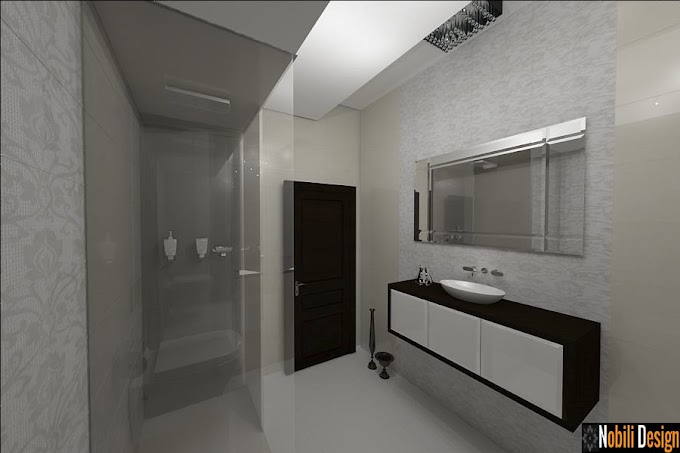 Design interior baie case moderne Bucuresti