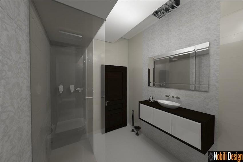 Design interior baie case moderne Bucuresti