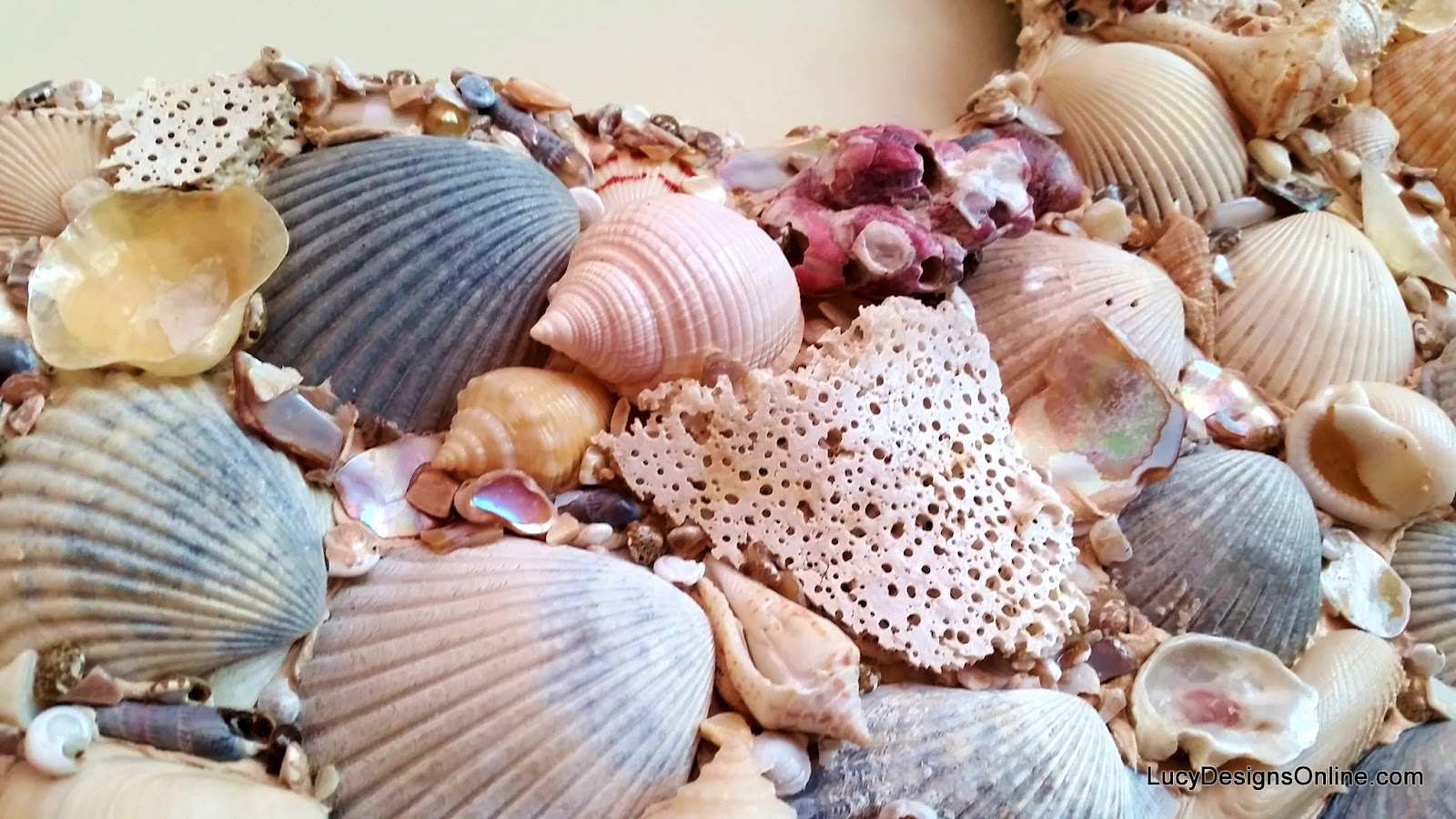 sea shell mosaic on octopus art