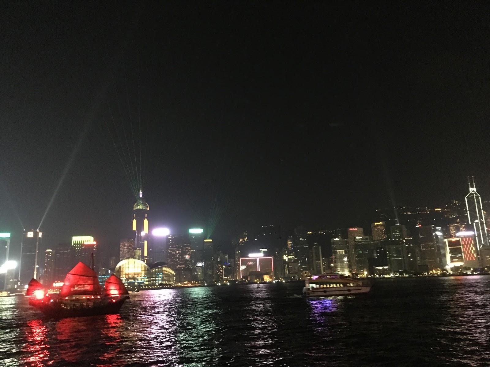 Hongkong lézershow