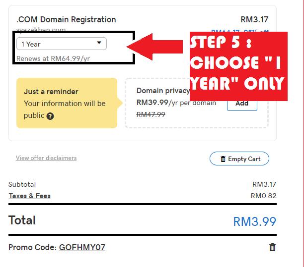 Cara beli domain murah godaddy malaysia