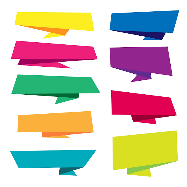 Free Download PNG - Colorful-Origami-Banner-Collection