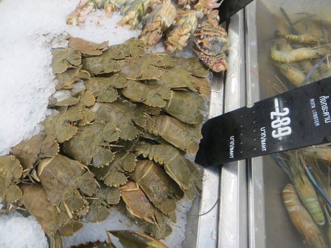 ракообразные в магазинах таиланда