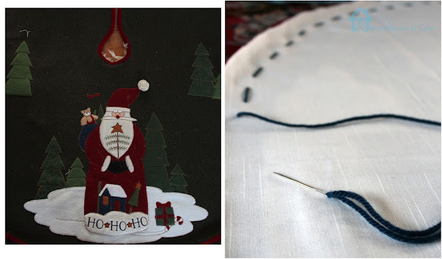 How to re-cover a tree skirt to use it again with a different design