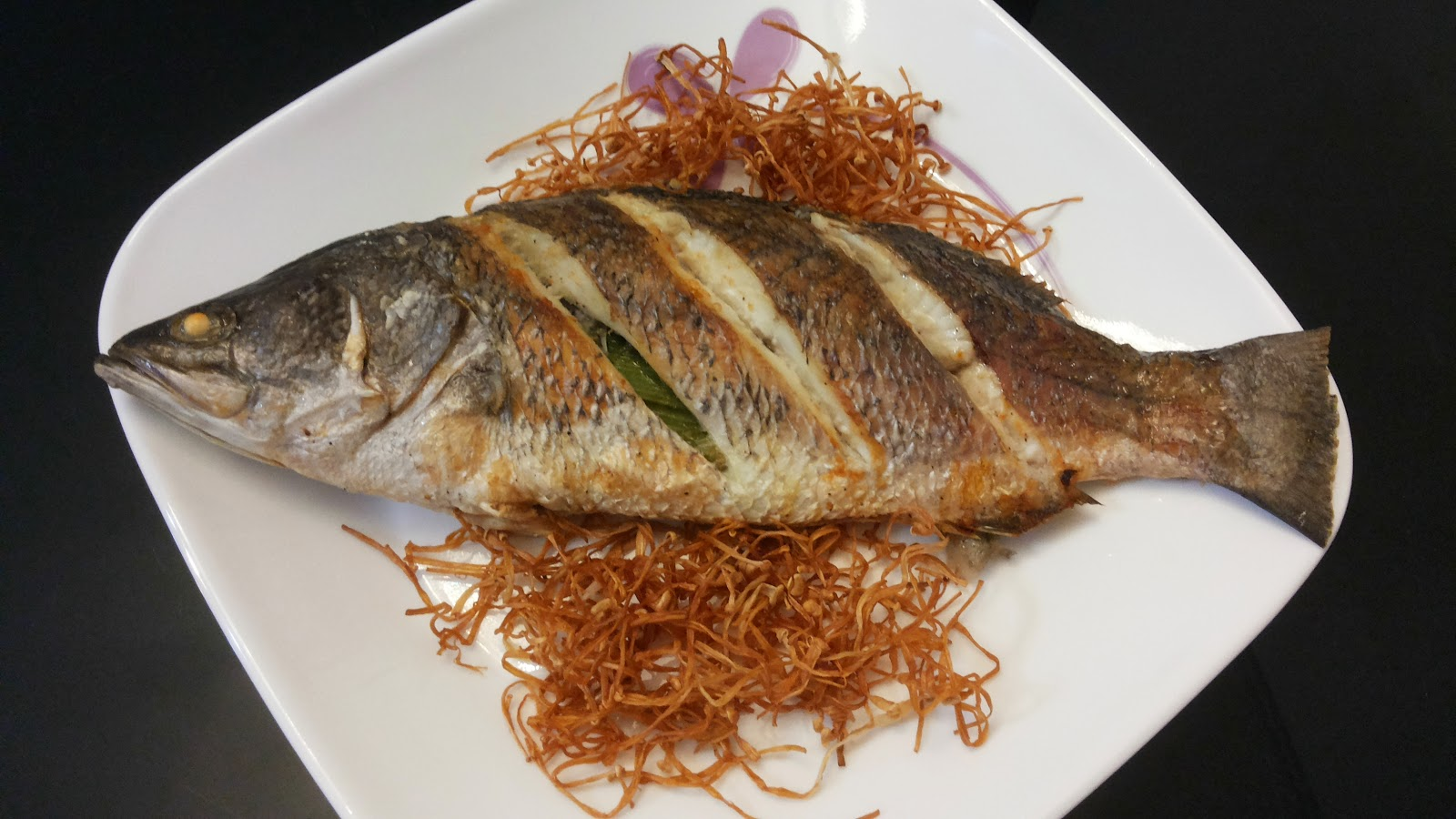 Krystal wee recipes air fried sea bass with spicy dark for How do you fry fish