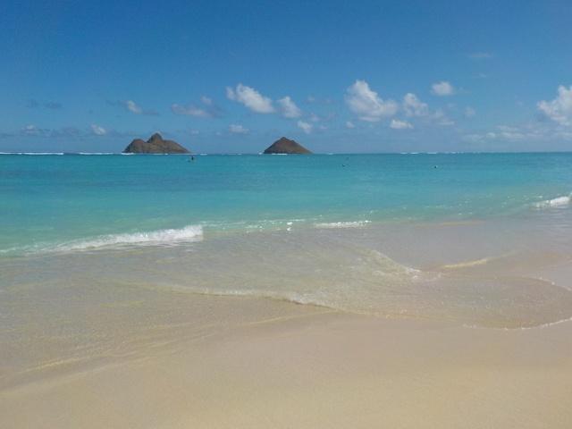 Plage de sable fin à Hawaï