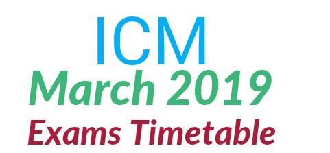 ICM March Exams Dates