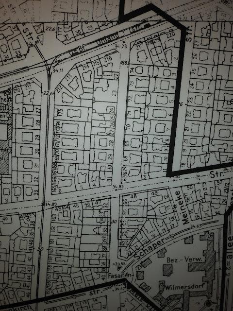 מפת ברלין המראה את האיזור החופשי מיהודים