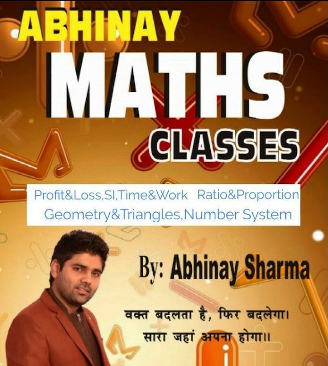 Abhinay Sharma Maths Classes Notes in Hindi & English pdf download