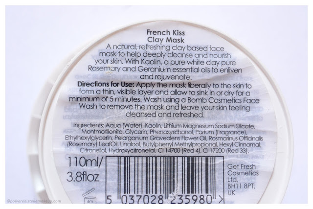 Bomb Cosmetics French Kiss Maschera Inci