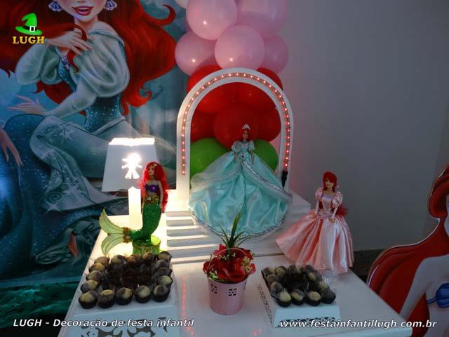 Decoração infantil Ariel - Mesa temática para festa de aniversário