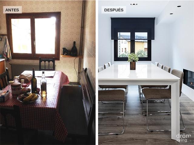 El antes y despues de la reforma de una casa de monta a before and after reform the mountain - Decoracion de casas antes y despues ...