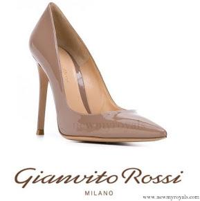 Crown Princess Mary wore Gianvito Rossi Gianvito Patent Leather Pumps