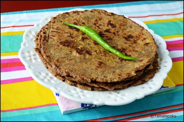 Ragi Aloo Roti