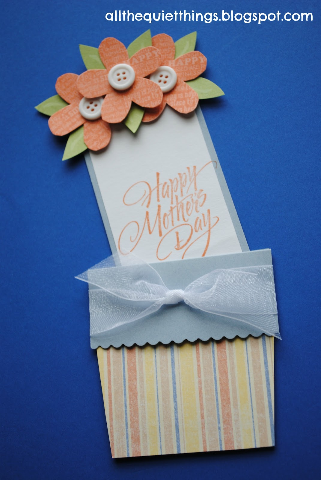 all the quiet things mother's day flower pot card