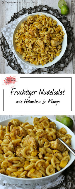 Fruchtiger Nudelsalat mit Hähnchen | Rezept | Kochen | Essen