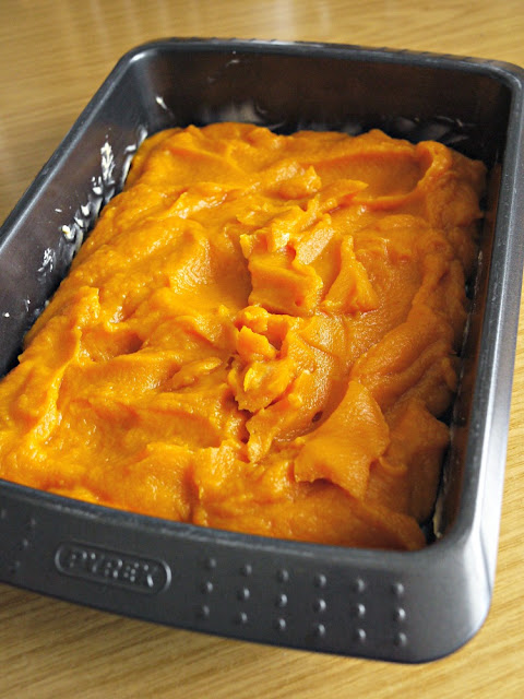 Puree the cooked pumpkin in your food processor.
