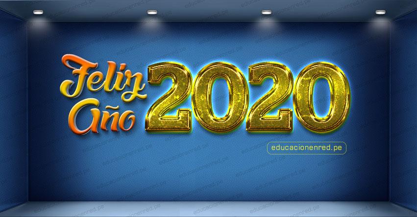 FELIZ AÑO 2020 - EDUCACIONENRED.PE