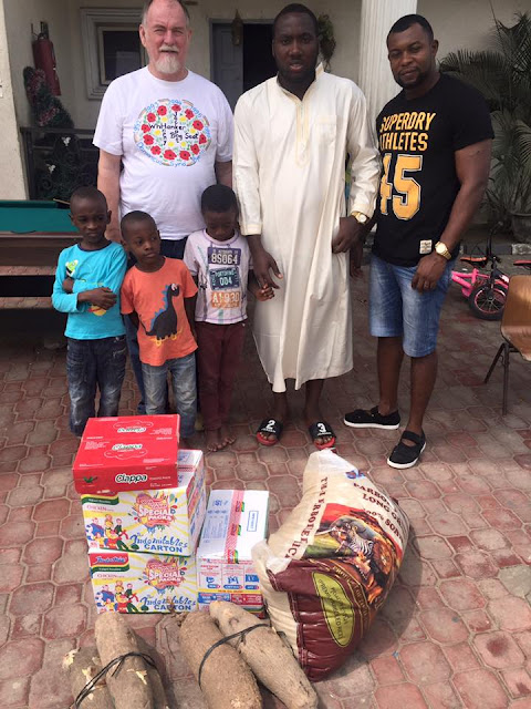 Wow! Online Entrepreneur Akpomedaye O. Victory Spent His Valentine's Day With The Orphanage Kids