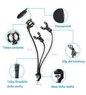 tavolo professionale microfonica supporto kh-28