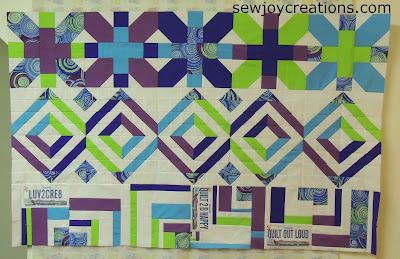 modern row quilt guild roosting round robin