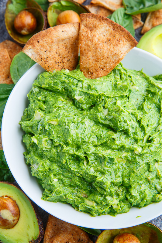 Avocado Spinach and Artichoke Dip