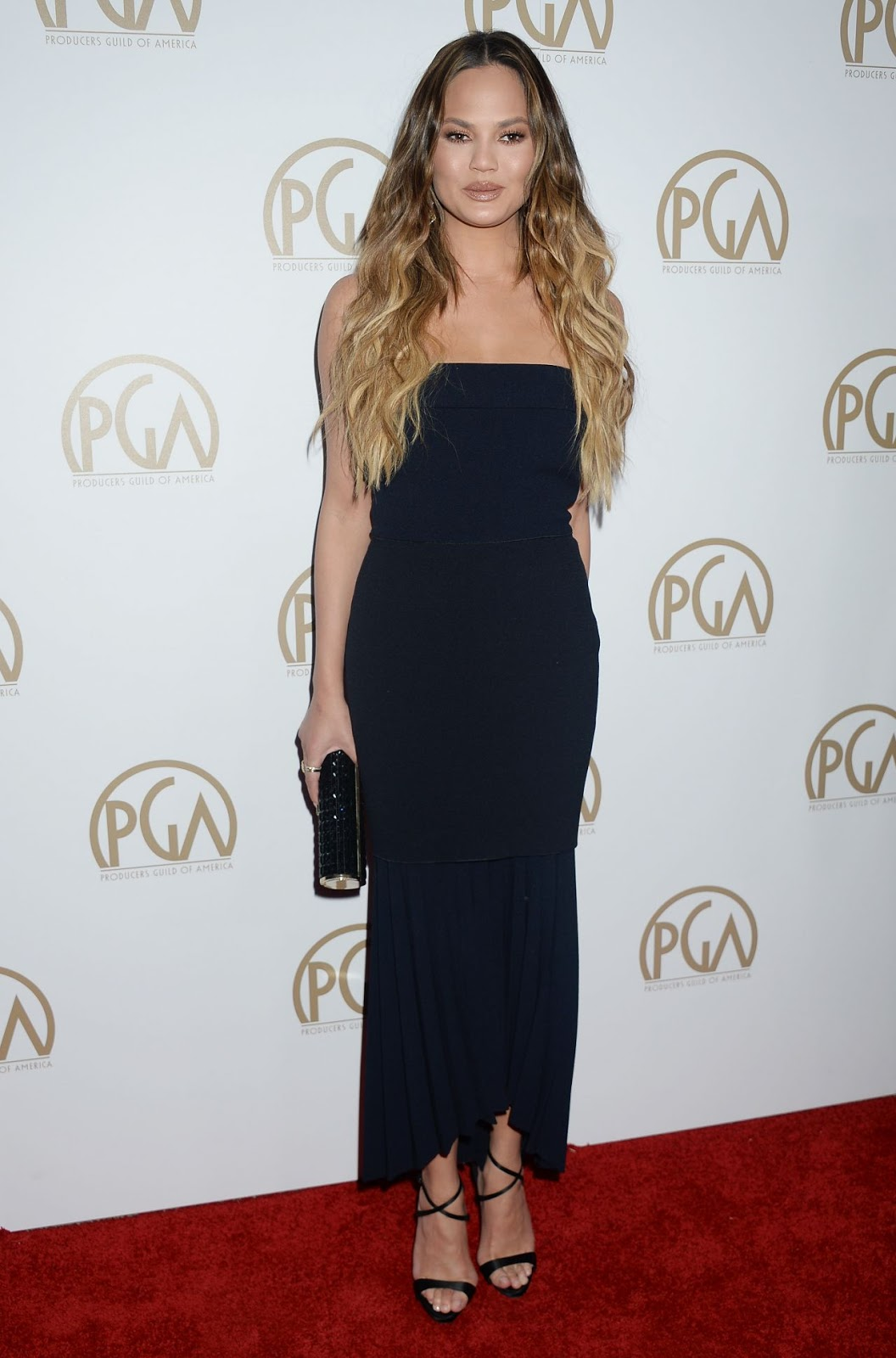 Chrissy Teigen showcases incredible physique at the Producers Guild Awards